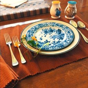 Dining - 4 Burnt orange ribbed place mats